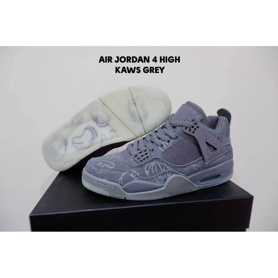 on sale 80f64 16a6b Air Jordan 4 High KAWS Grey & Black
