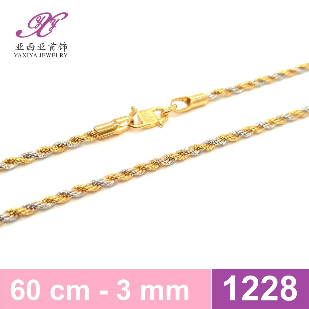 Kalung rantai lapis emas kombinasi Perhiasn imitasi Yaxiya 563   Shopee Indonesia