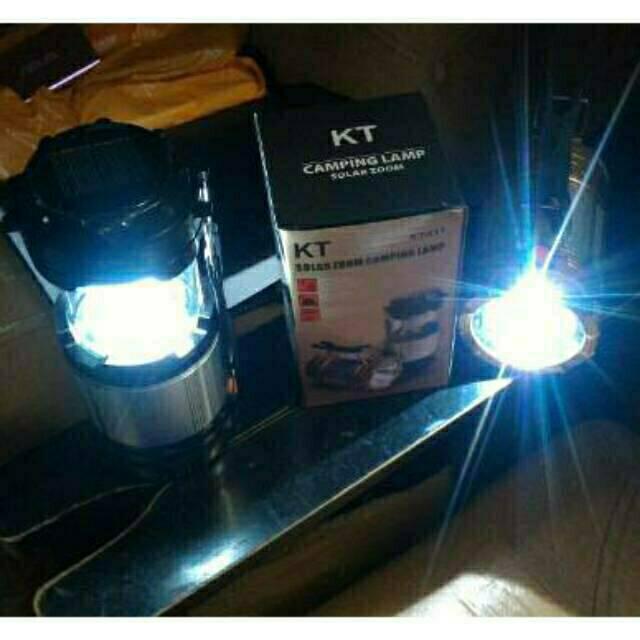 Lampu Camping / Emergency Senter LED/ Lentera Tarik Solar + Power BanK | Shopee Indonesia