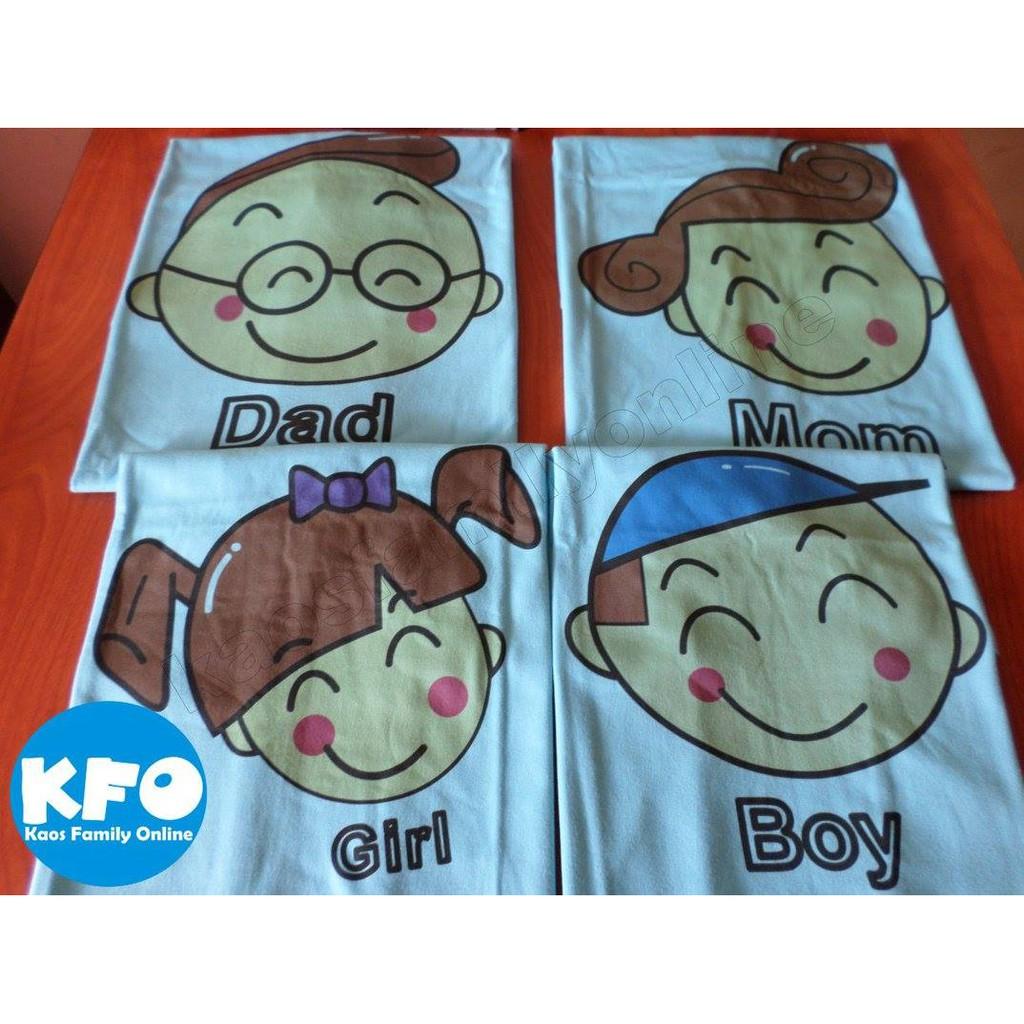 Baju Kaos Keluarga Family Couple Gathering Request Nama Tulisan Custom Termurah Lucu