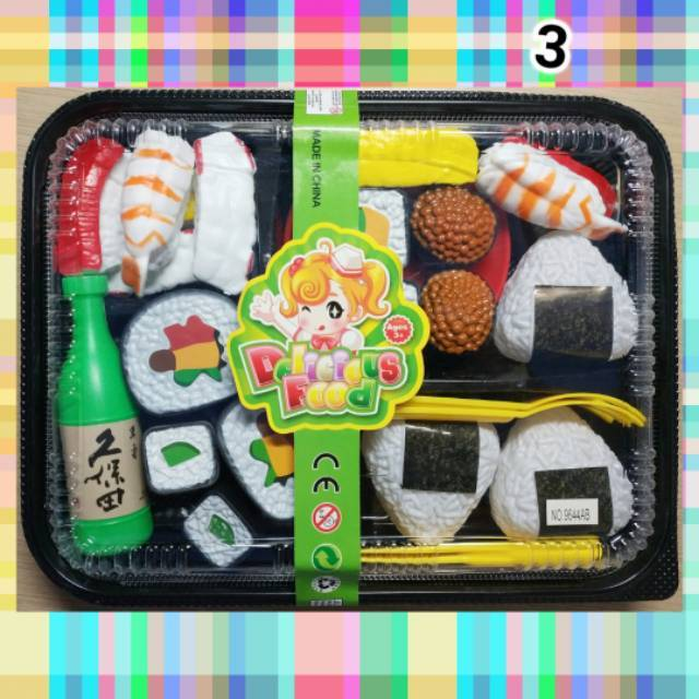 Mainan Makanan Playfood Nampan Donat Pizza Es Krim Sushi Dimsum Set Kitchen Masak Masakan Food Anak Shopee Indonesia
