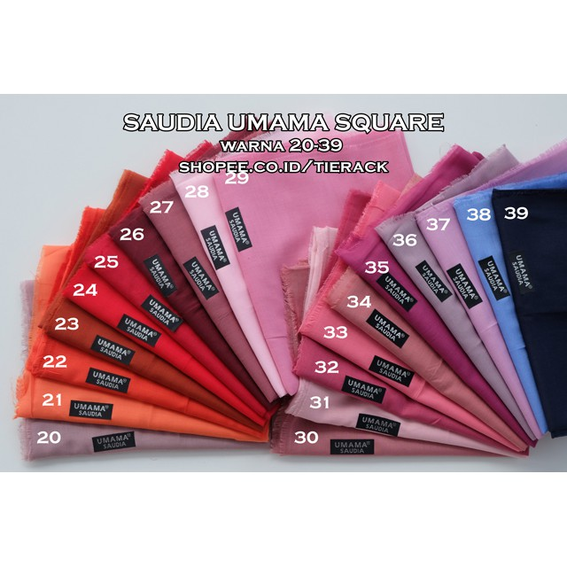 SAUDIA Merk UMAMA Warna Nomor 20 Sd 39