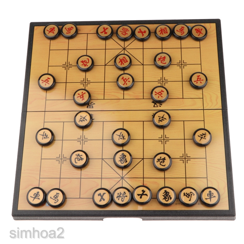 Simhoa2 Xiangqi Chinese Chess Set Folding Board And Game Pieces For Camping Game Shopee Indonesia