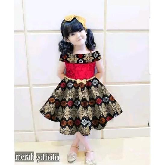 Foto Baju Batik Anak Modern Dress Batik Anak Perempuan 5 7 Tahun Allsize Baju Pesta Anak