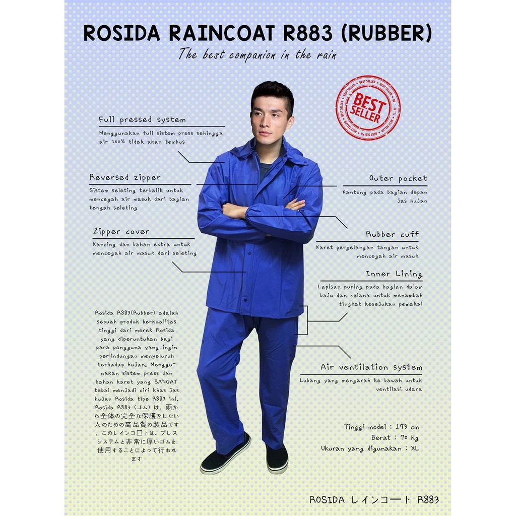 Jas Hujan Rosida R883 Karet Raincoat R 883 Rubber Anti Rain City 69132 Setelan Batik Sekar Stelan Jaket Motor Rembes Shopee Indonesia