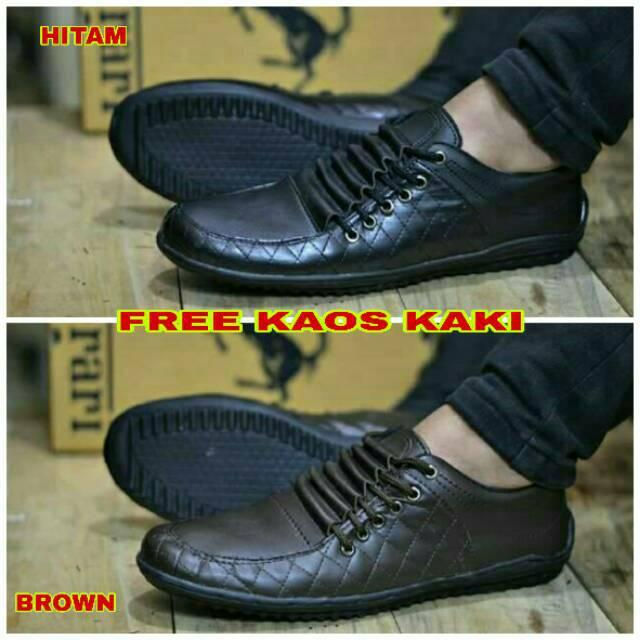sepatu safety low boots pria warna coklat dan hitam  6c73a80f88