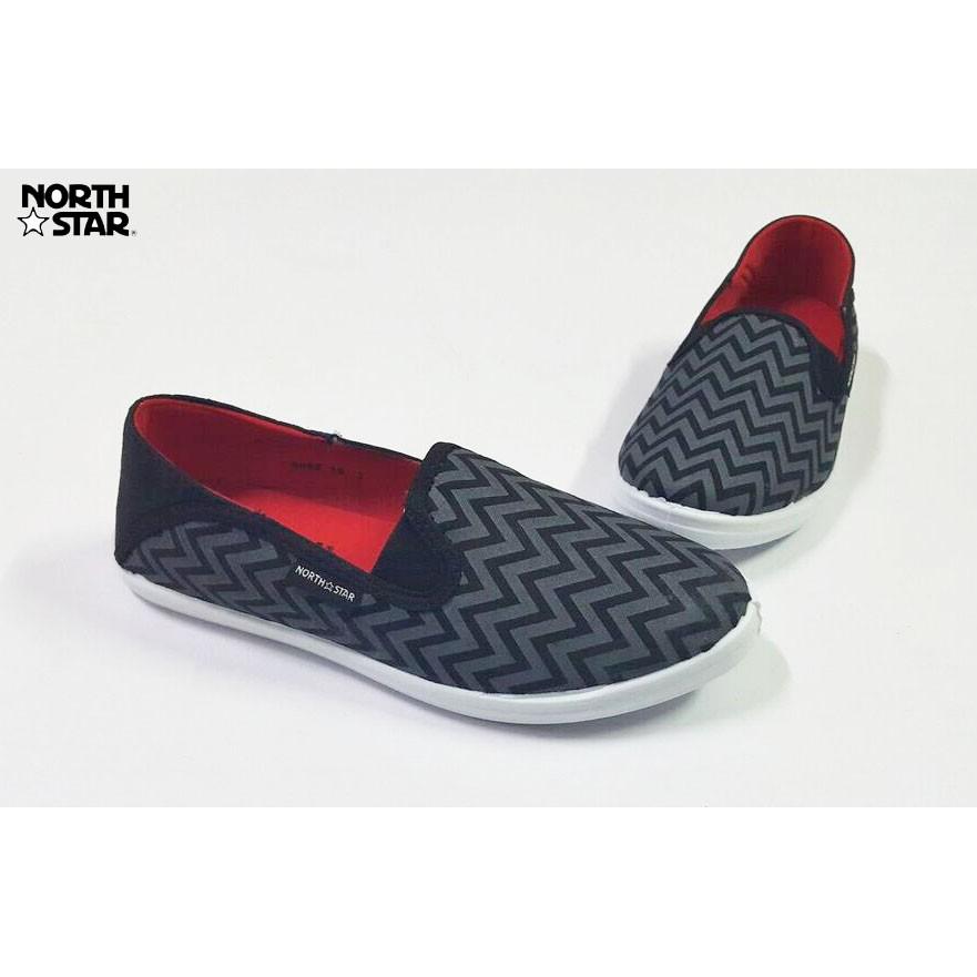 ORIGINAL NORTH STAR 2 9323 Sepatu Canvas Slip On Flat Shoes Casual Pria -  Abu   Biru  f0fea904fe