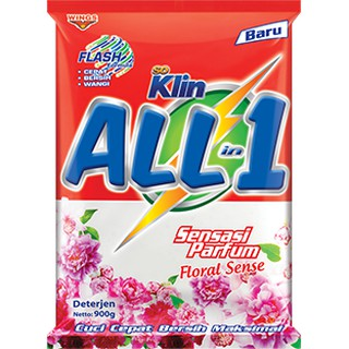 So Klin Deterjen Bubuk  All In 1 Floral 900gr
