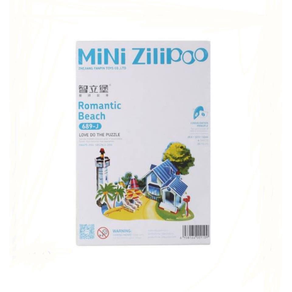 3D PUZZLE DIY TOY ZILIPOO 589J ROMANTIC SEA BEACH CASTLE SERIES 39PCS/JIGSAW PUZZLE CRAFT 3D CARTOON | Shopee Indonesia
