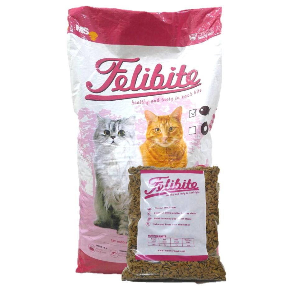 Felibite Cat Food 500gr Kemasan Repack Makanan Kucing Shopee
