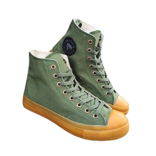 Sepatu ventela bts gum army high ventela 70s high low gum army hijau ORIGINAL   Shopee Indonesia