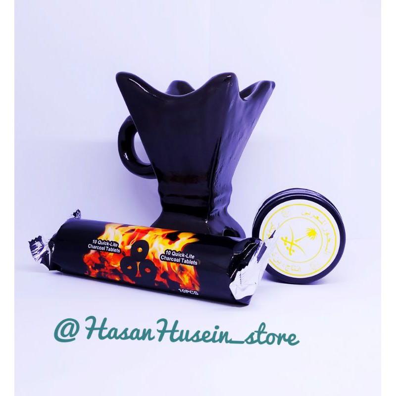 Paket Buhur al Maghribi al kaff dupa keramik arang magic