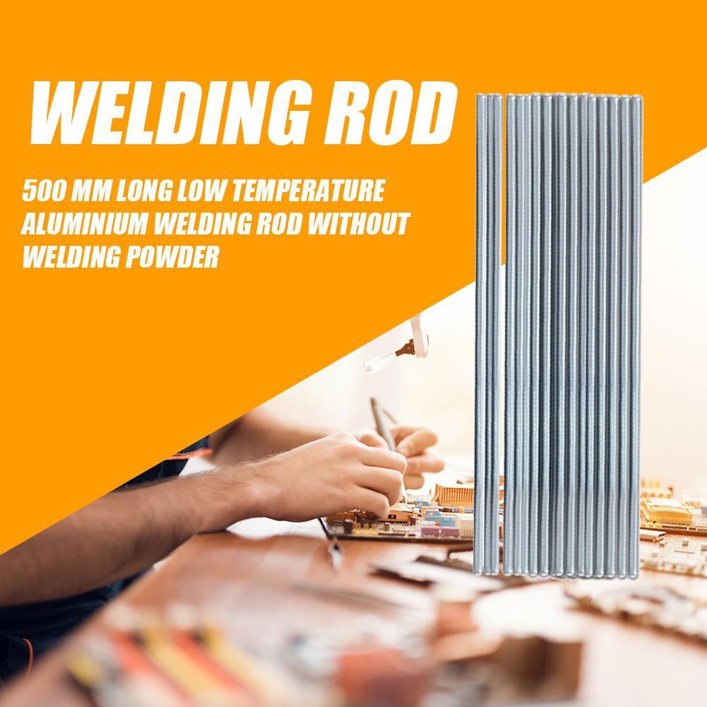 10Pcs 1.4x500mm Aluminum Repair Welding Brazing Soldering Rods Low Temperature