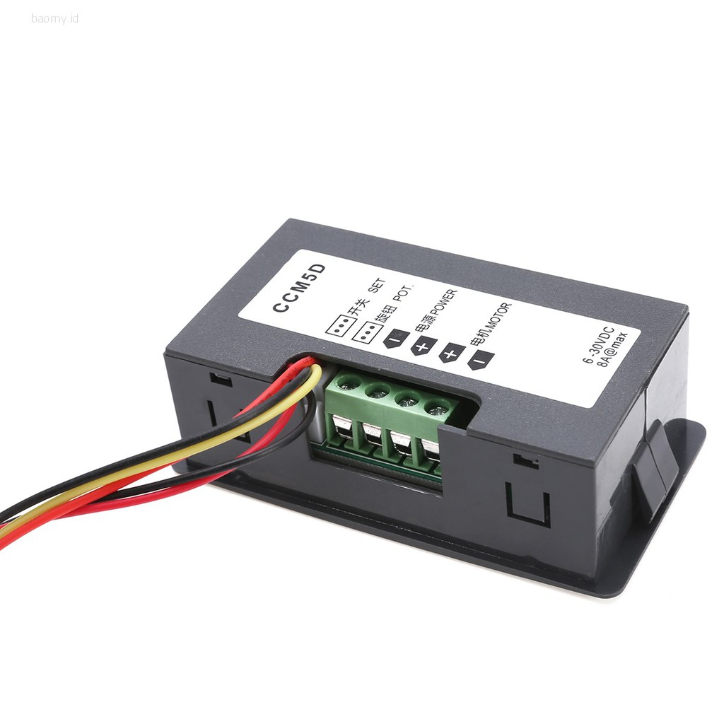 Max 8A DC 12V 24V 6-30V PWM Motor Speed Controller With Digital Display /& Switch