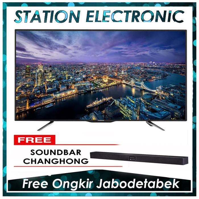 CHANGHONG LED TV 55D2200 + SOUNDBAR CHANGHONG- Hitam [55 inch] FREE DELIVERY JABODETABEK