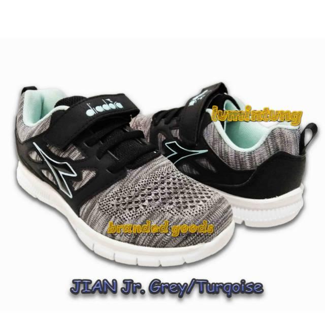 Sepatu Diadora Anak Jian Grey Turqoise Shopee Indonesia