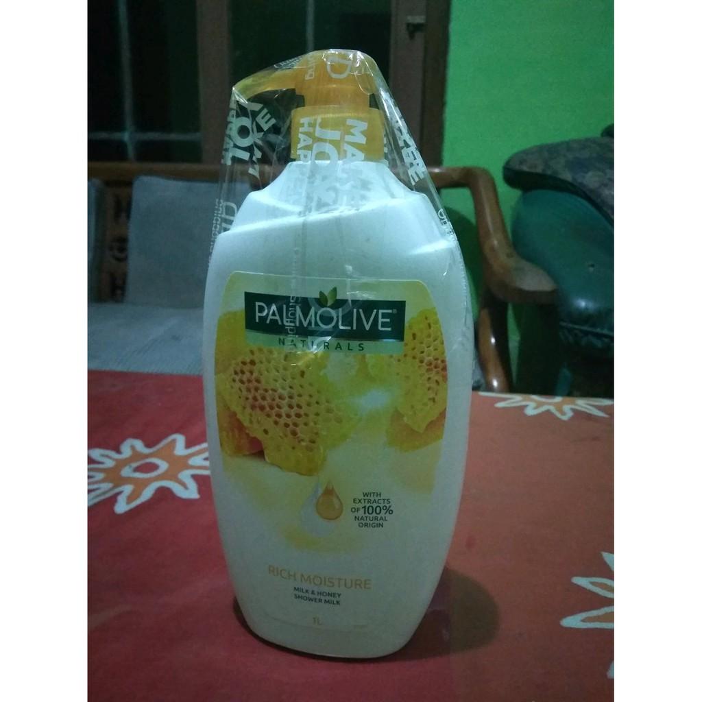 Palmolive Naturals Milk And Honey Shower Milksabun Mandi Susu 1l Black Orchid Gel Twinpacks Free Towel Sabun Shopee Indonesia