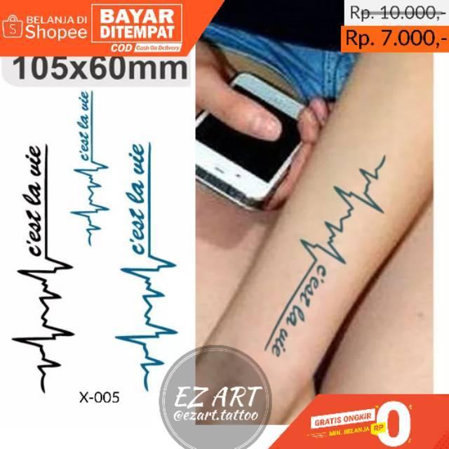 Desain Denyut Jantung Keren Temporary Tattoo Tato Temporer Fashion Premium Quality Shopee Indonesia