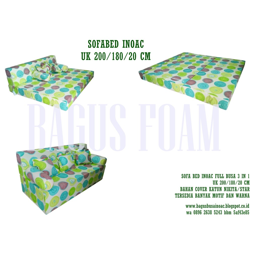 Sofa Bed Inoac 3 In 1 All Size Eon Lg D23 Light Green