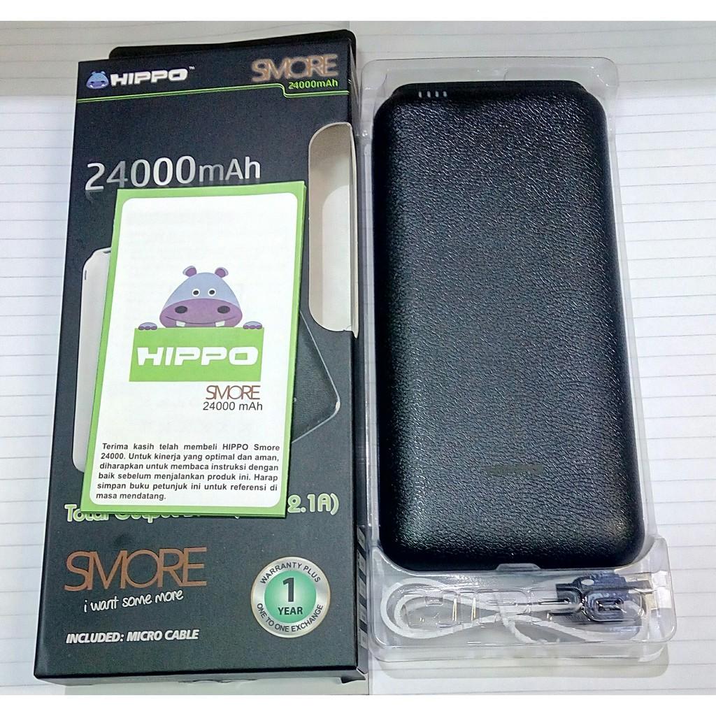 Hippo Powerbank Smore 24000mah - Original Power Bank 24000 mah | Shopee Indonesia