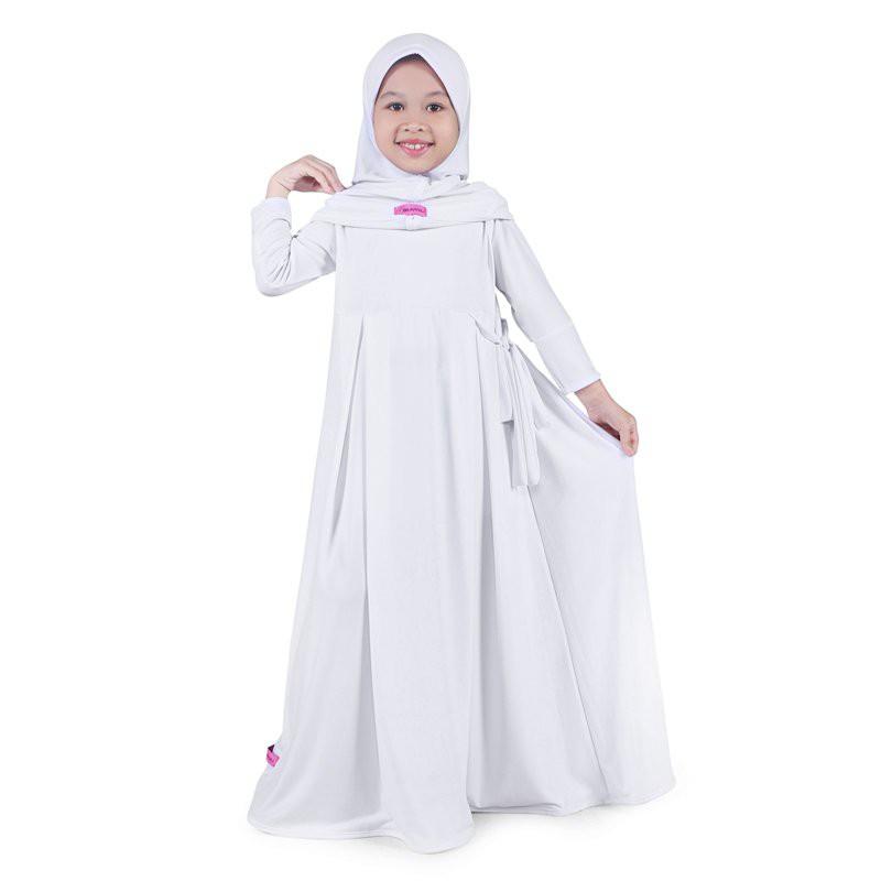 Baju Muslim Gamis Anak Perempuan Jersey Murah - Navy Cream | Shopee Indonesia