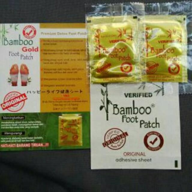 Koyo Bamboo GOLD Detox Foot Patch - Premium Quality (ORIGINAL) 10 pasang | Shopee Indonesia