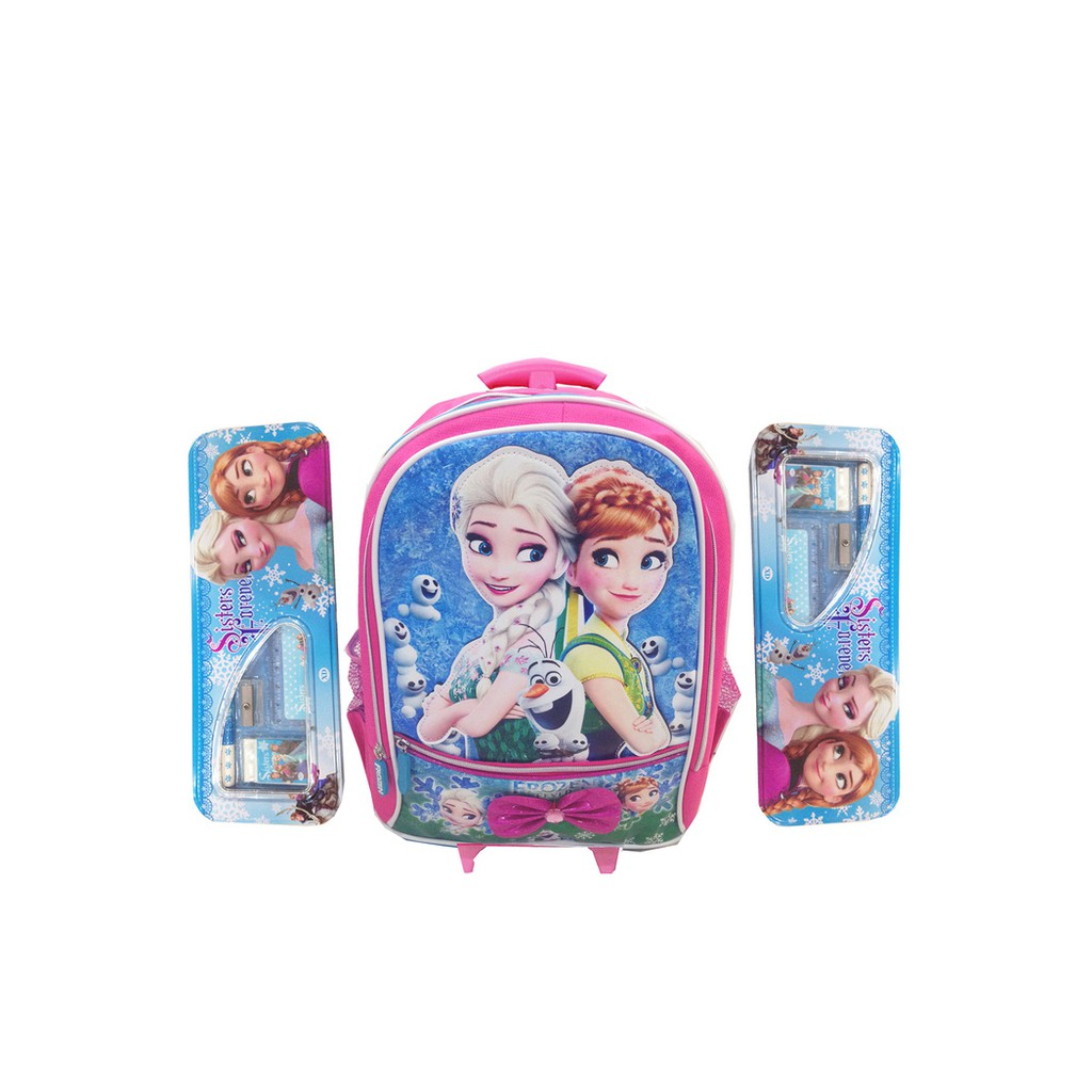 Promo Tas Troley T Sekolah Anak Frozen Fever Sd Timbul Stationery Troli 6d 4 In 1 0280 Kotakpens Murah Shopee Indonesia