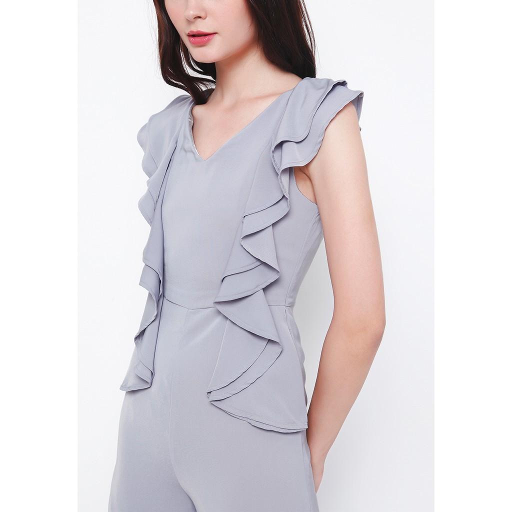 Chocochips - Regina Jumpsuit Grey | Shopee Indonesia