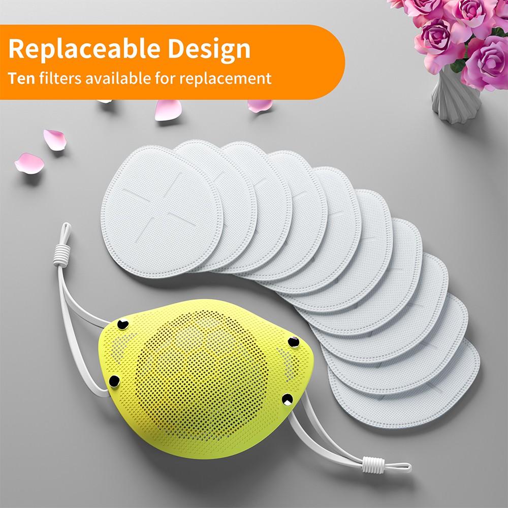 10pcs Filter Masker Bahan Silikon Kn95 Reusable Washable ...