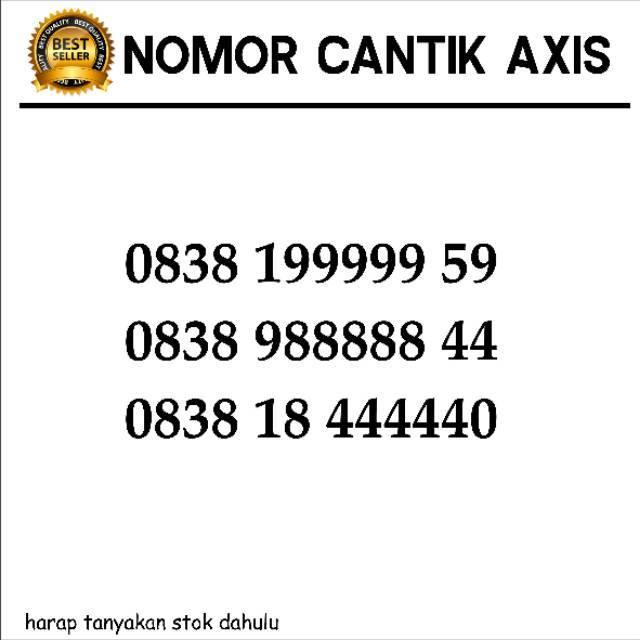 Nomer cantik axis 5758 168 805 axis maju mapan bos ilufa | Shopee Indonesia