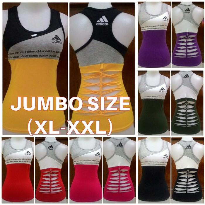 Terbaru Jumbo Xl Xxl Baju Senam Jumbo Aerobic Zumba Cantik Big Size Besar 3 Termurah