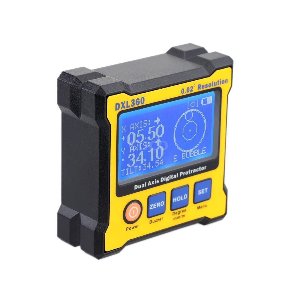 DXL360S Dual Axis Digital Angle Protractor 100-240V AC Adapter EU PLUG