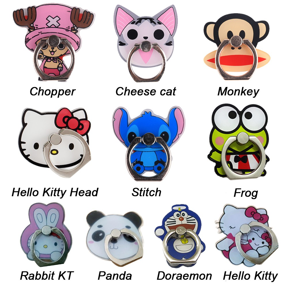 b24c1e5f5 Harga preferensial Cartoon iRing Ring Holder Cincin HP Ring Stand ...