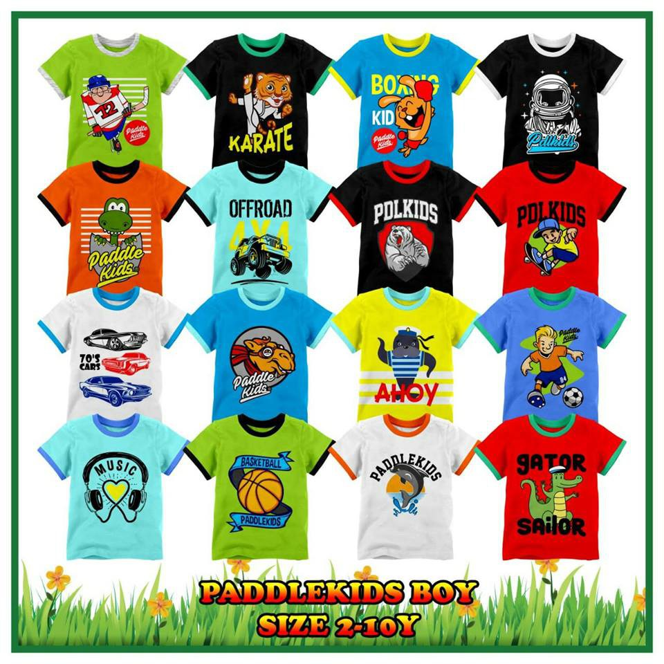 Kaos Atasan Lengan 3 4 Paddle Kids Boy Pakaian Baju Anak Laki Laki Murah  Grosir  0b55883a1a
