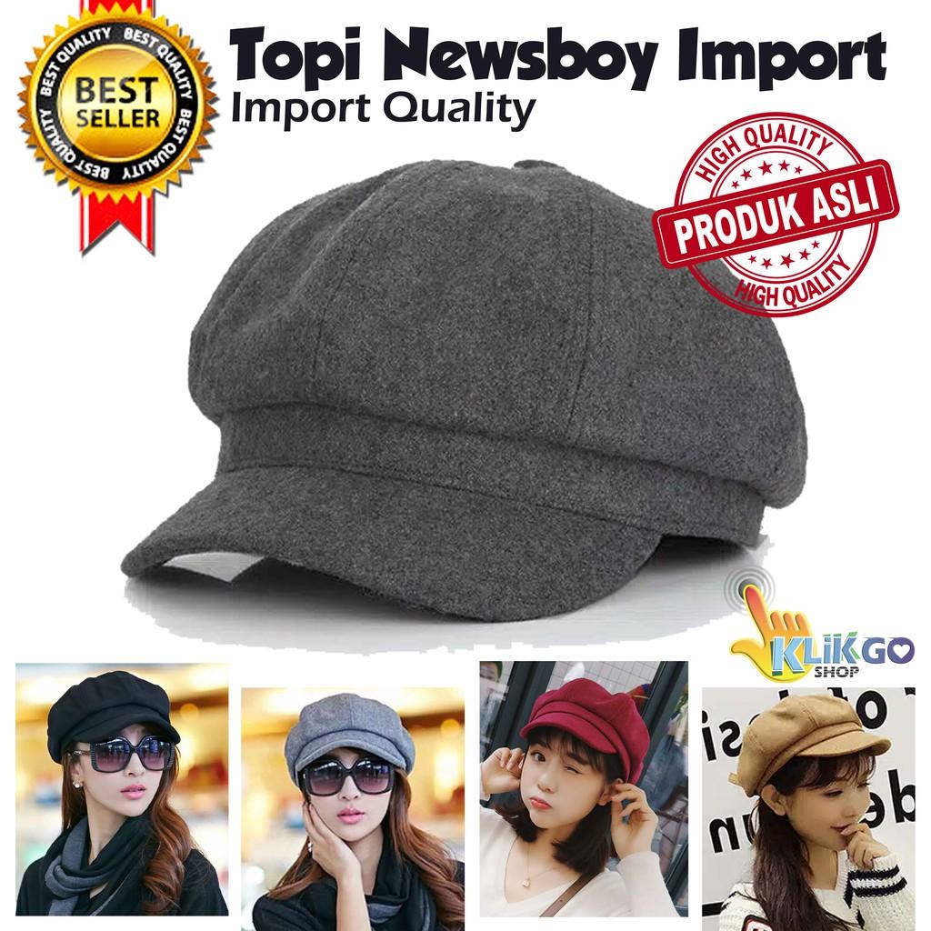 dcc84a64e8e Topi Newsboy Cap Topi Pet Men Women Beret Octagonal Hat Apollo Dewasa
