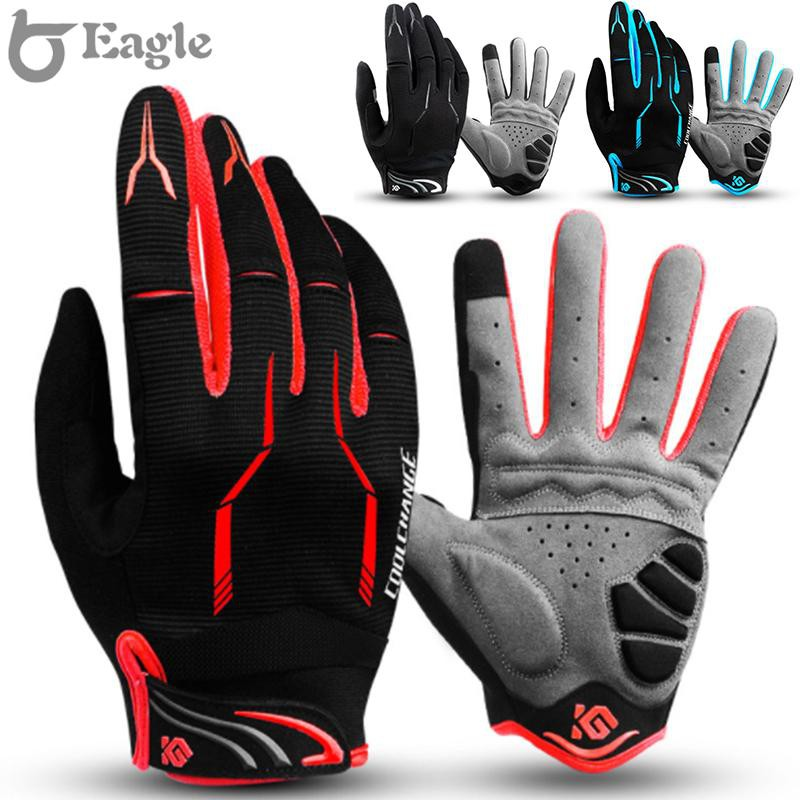 Details about  /Unisex MTB Cycling Bicycle Bike Motorcycle Full Finger Touch Screen Gloves New