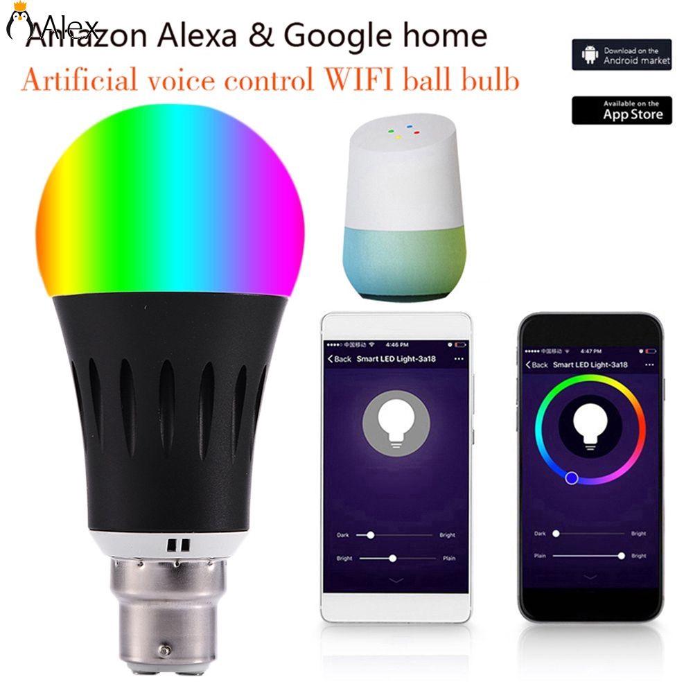 Lampu Bohlam LED Bentuk Bulat Warna Hitam dengan APP Remote Control &hom   Shopee Indonesia