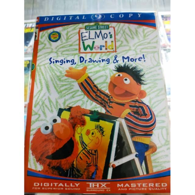 Kaset Dvd Animasi Anak Anak Elmo S World Singing Drawing More
