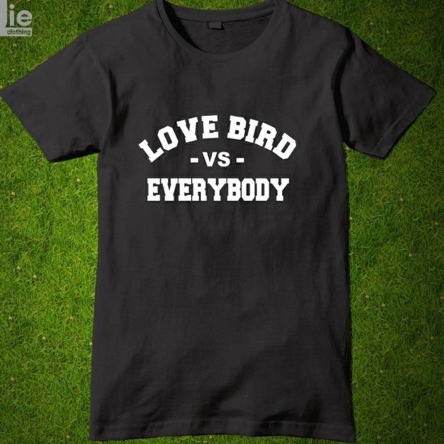 Kaos Distro Love Bird Vs Everybody Baju Tshirt Komunitas Burung Shopee Indonesia
