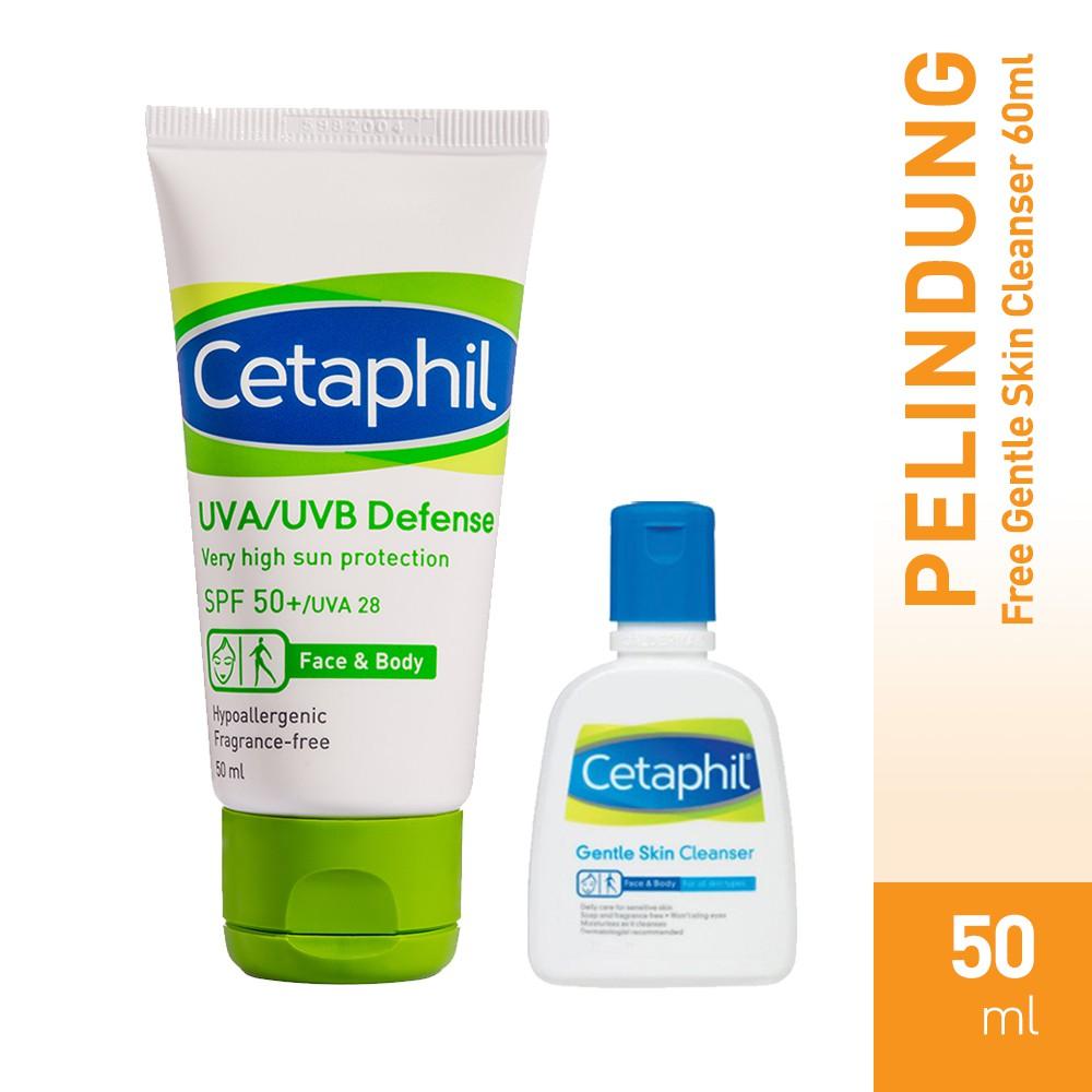 [Bundle GSC 60] Cetaphil UVA/UVB Defense SPF 50, 50 ML Free