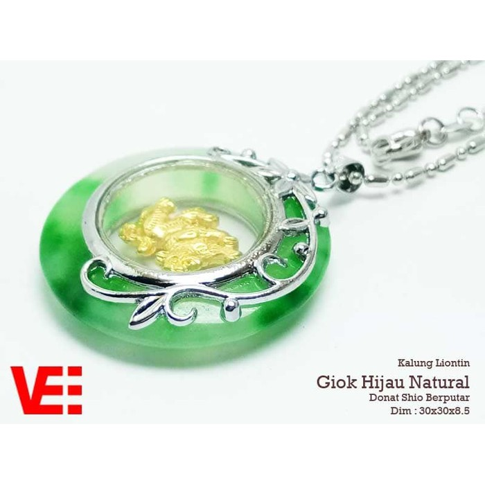 Kalung Liontin Giok Hijau Oval Model 1 - Liontin Terapi Kesehatan | Shopee Indonesia