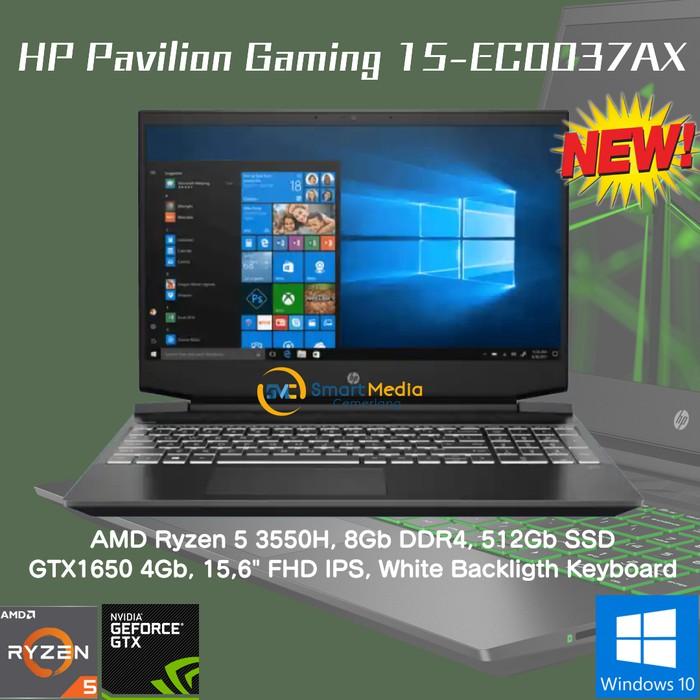 Laptop Gaming Hp Pavilion 15 Ec0037ax R5 3550 8gb 512gb Gtx1650 4gb 15 6 Shopee Indonesia