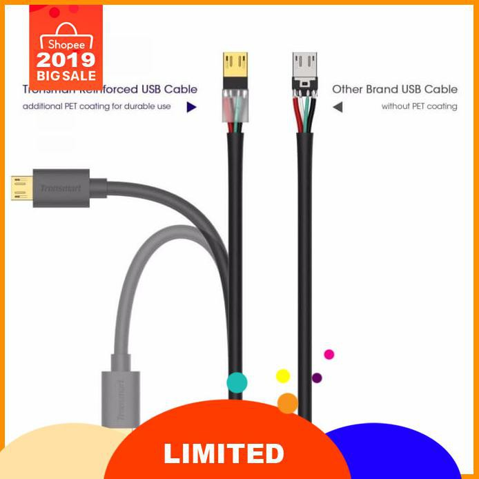 TRONSMART KABEL DATA MICRO USB FAST CHARGING GOLD PLATED 1METER 3PCS CND7068