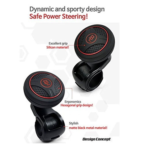 Bl Silicon Black Platinum Power Handle Car Steering Wheel Suicide Spinner Accessory Knob for Car Vehicle