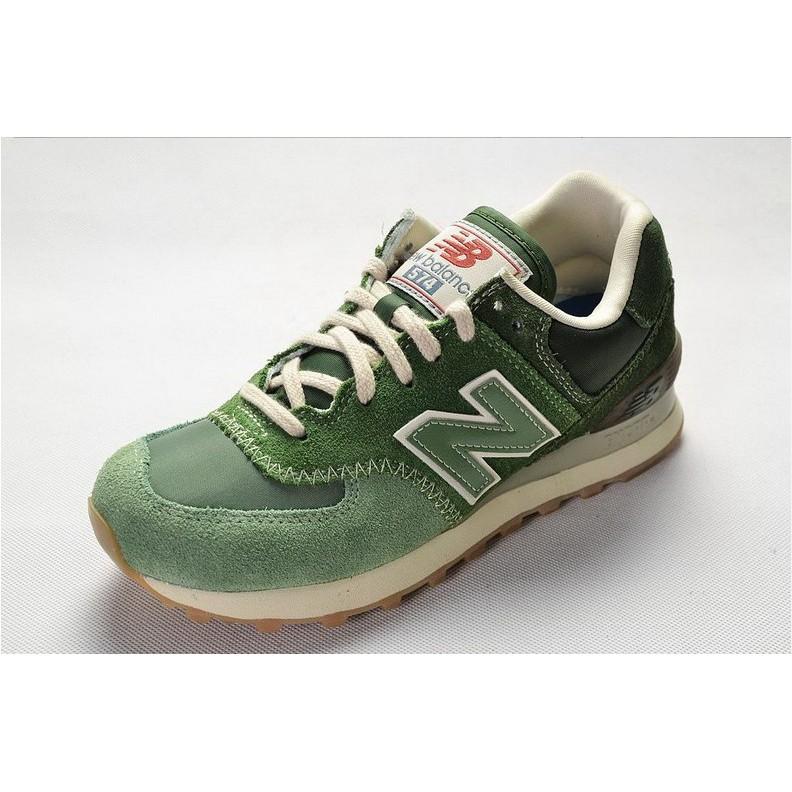 Sepatu Sneakers Lari Model New Balance 574 nb574 Warna Hijau Breathable  untuk Pria / Wanita