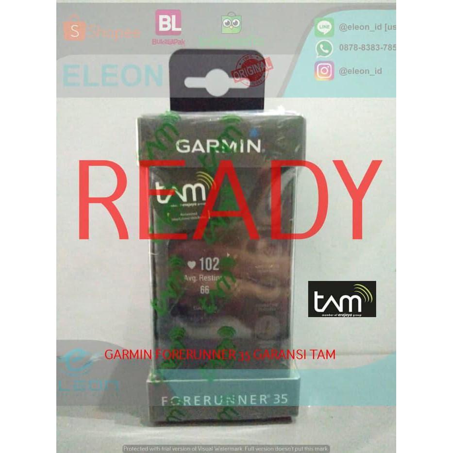 Garmin Forerunner 35 Black Garansi Resmi Indonesia Shopee 235 Blue Dmi