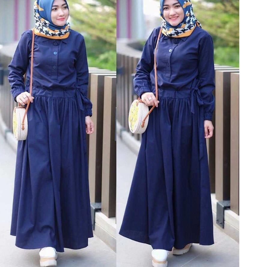 ►®◄ SADIRA DRESS Baju Gamis Terbaru 2020 Gamis Wanita Muslim Wanita Elegant Trendy Gamis Simple