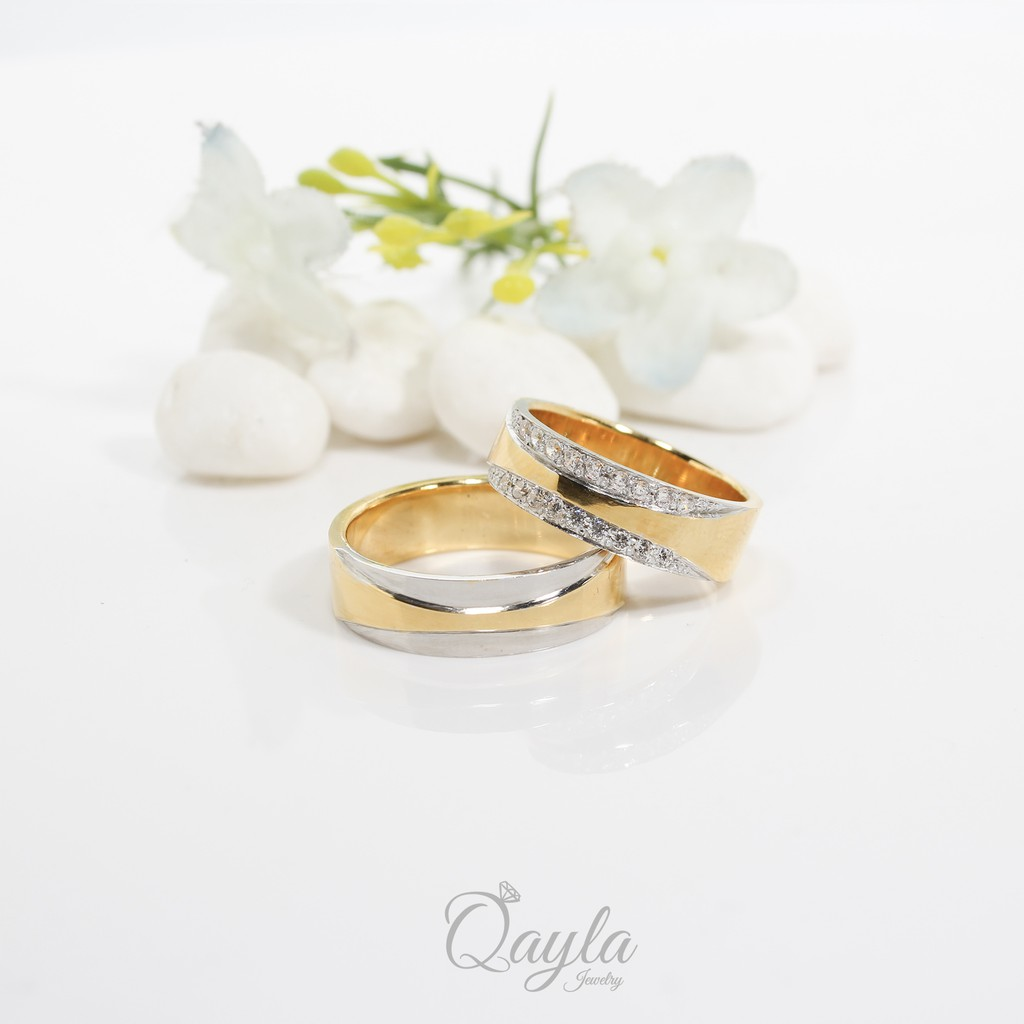 Cincin Kawin Couple Tunangan Qayla236 Shopee Indonesia Cr 2