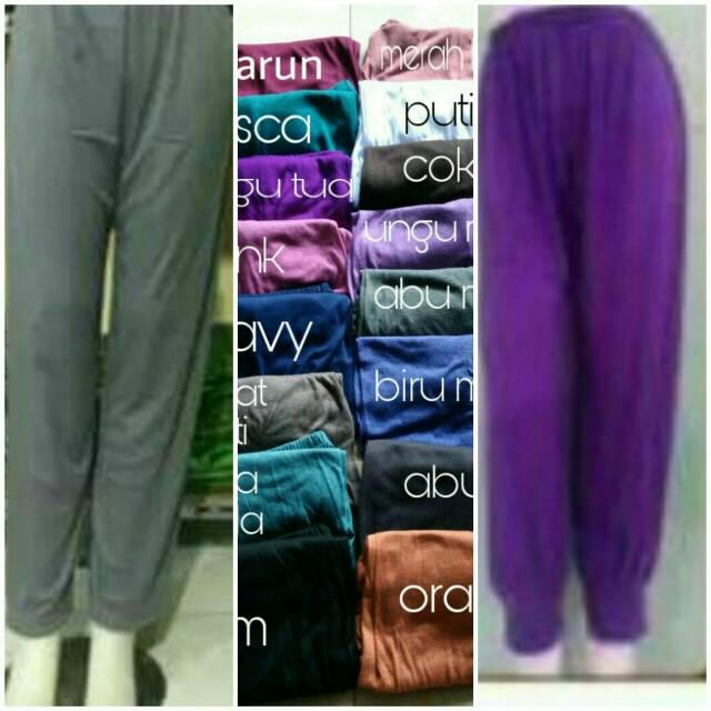 Celana legging, inner pant, dalaman gamis, celamis standar dan jumbo,celamis aladin