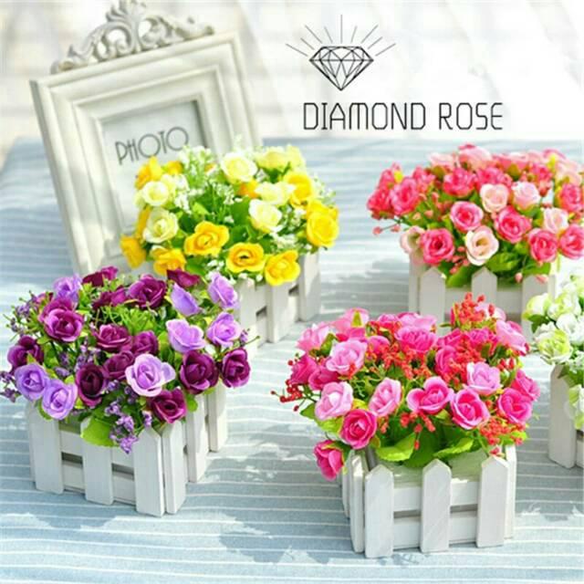 Buket Bunga plastik mawar  35536a9389